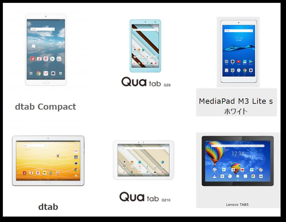 携帯会社のタブレット,docomo,au,softbank